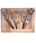 3D wood flower wall art hanging | one of a kind wood wall art of Butterf... - €266,82 EUR