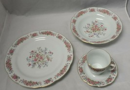 Remington Fine China: Spring Garden by Red Sea, Plate, Soup Bowl, Tea Cu... - $21.28