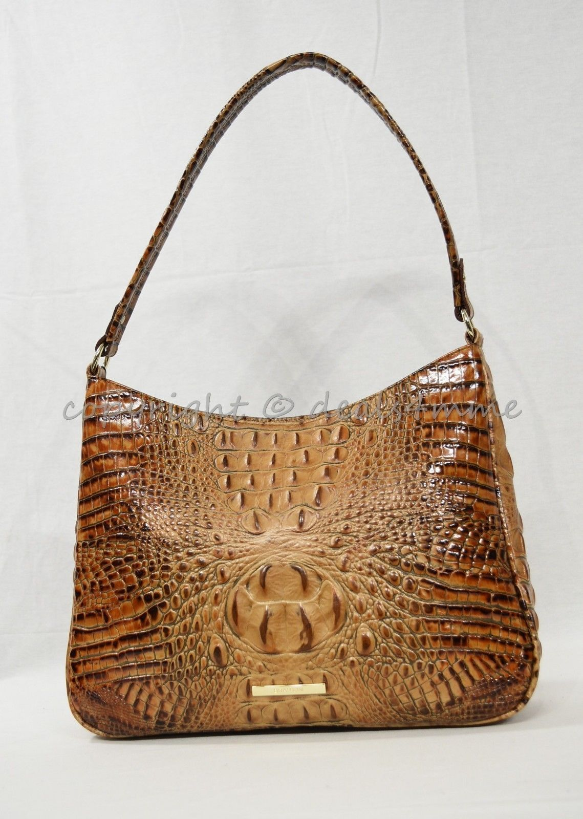 NWT Brahmin Noelle Leather Tote / Shoulder Bag in Toasted Almond Melbourne