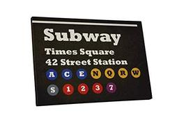 """Pingo World 1221P829A14 """"Pop 'Subway Times Square'"""" Gallery Wrapped Canvas Art,  - $57.37"""