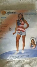 CALIFORNIA COSTUMES ADULT PATRIOT LADY JULY 4TH HALLOWEEN SZ S 6-10, VES... - $9.89
