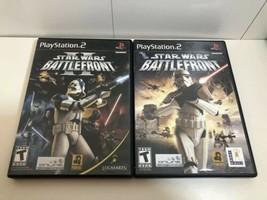 (2 game lot) PS2 Star Wars Battlefront bundle: I AND II, 1 2! Complete CIB - $26.18