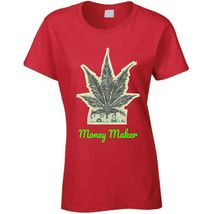 Money Maker 420 Canna Ladies T Shirt image 9