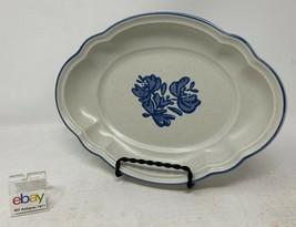 """Pfaltzgraff USA """"Yorktowne"""" Ruffled Relish Dish / Tray 8 1/4"""" Oval Dish - Nice! - $11.99"""