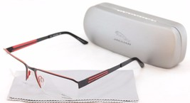 New Authentic Jaguar Eyeglasses Frame 33556 824 Black Red Metal Germany ... - $158.15