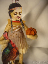 Spun Cotton Thanksgiving Native Girl Vintage by Crystal Tan Outfit image 3