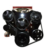 Small Block Chevy Serpentine Front Drive System Complete Kit BLACK - $1,128.59