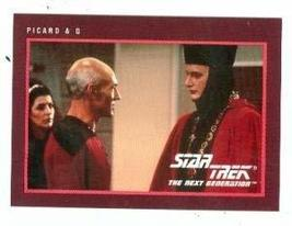 Star Trek The Next Generation card #270 Patrick Stewart Captain Picard and Q Joh - $4.00