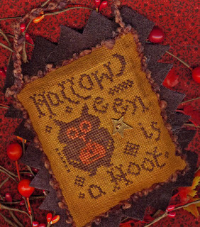 Primary image for A Hoot A Year in Halloween II cross stitch chart charm Homespun Elegance