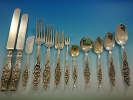 Lily of the Valley by Whiting Sterling Silver Flatware Set Service 107 PC Dinner - $15,995.00