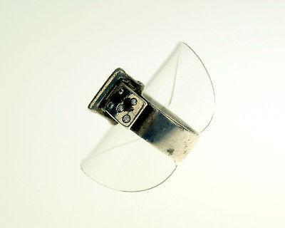 Alter Ring 925 SILBER mit Steine Damen Herren Schmuck silver ladies 18 mm RAR