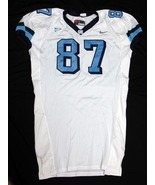 UNC Tarheel GAME USED WORN FOOTBALL JERSEY Sz 58 WHITE #87 North Carolina - $60.00