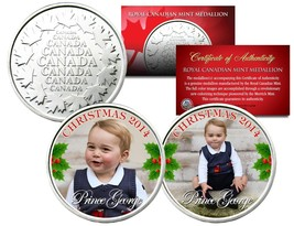 PRINCE GEORGE * 2014 CHRISTMAS * Set of 2 Royal Canadian Mint Medallion ... - $10.84