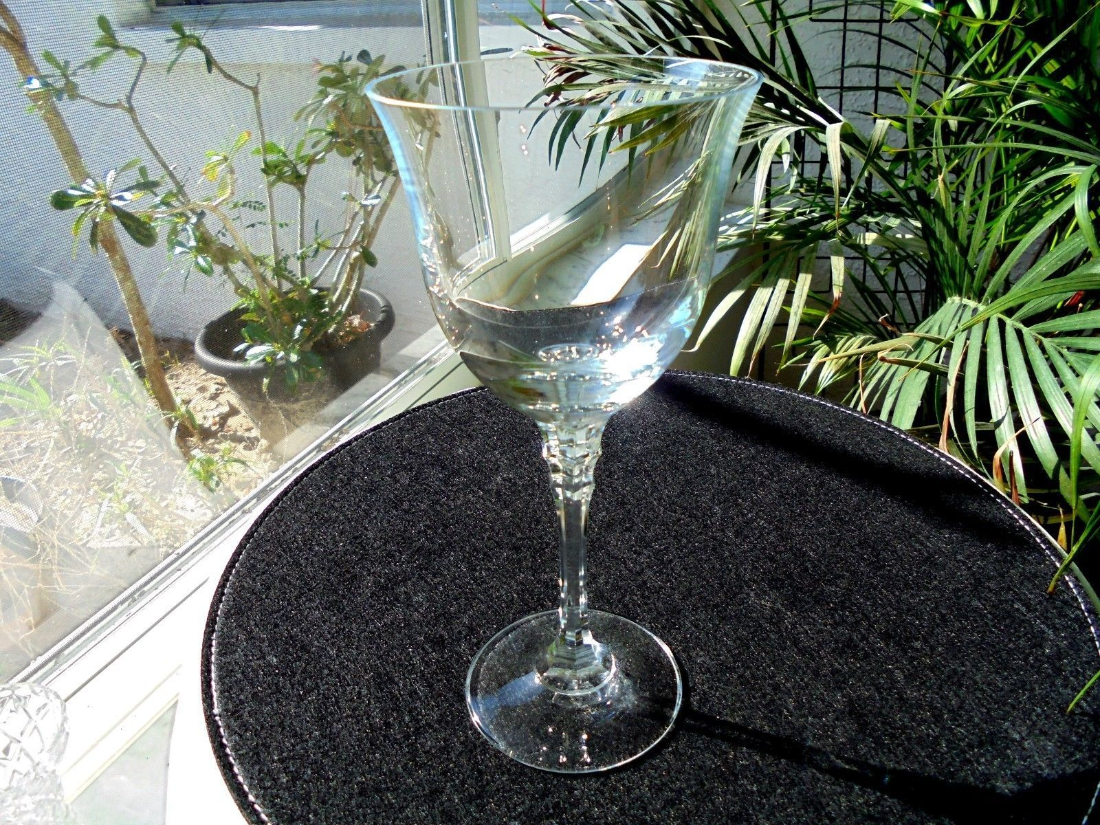 """Mikasa Windsor Pattern Clear Crystal Water Goblet 8 3/8"""" Tall Multiple Avail"""