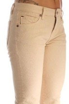 NEW D-ID NEW YORK WOMEN'S PREMIUM SKINNY FIT LOW RISE JEANS BEIGE 1000-2222