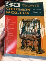 33 Favorite Organ Solos for Church and General Use Sheet Music Book  - $17.09