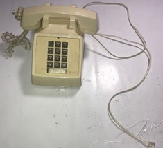 Vintage 1989 Push Button Desk Phone gold star made in Korea - $18.69