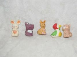 Lot 5 small Vintage Strawberry Shortcake Pet Animal Bunny Skunk Donkey C... - $39.59
