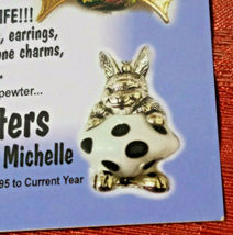 VINTAGE BUNNY BEAD CRITTERS BEAD WRAP BY PENNY MICHELLE 1995 GOLDTONE image 5
