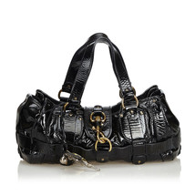 Pre-Loved Chloe Black Patent Leather Kerala Equipped Handbag France - $316.97