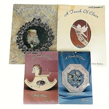 4 Painting Book A Touch of Class on Glass Aileen Bratton Xmas Decorative... - $19.75