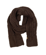 Timberland Women's Cable Knit Brown Scarf A1EUQ - $39.59