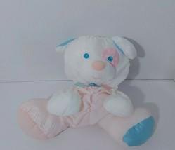 Fisher Price Baby Puffalump Puppy Dog Rattle Plush 1356 Spot Eye No Logo... - $39.59