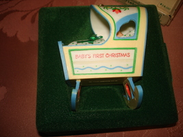 Hallmark 1983 Baby's 1st First Christmas Cradle Ornament New, Unused In Orig Box - $17.95