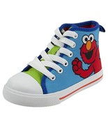 Sesame Street Elmo Shoes, Hi Top Sneaker with Laces, for (9 Toddler|Blue... - $35.61