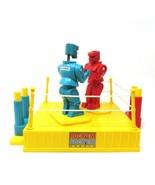 BS9 2001 Mattel ROCKEM SOCKEM ROBOTS Fighting Ring BLUE BOMBER RED ROCKE... - $21.29