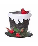 """RAZ Imports Mister Snowman 9"""" Top Hat with Snow - $22.99"""
