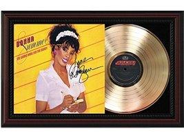 Donna Summer She Works Hard Cherrywood Framed Gold Reproduction Signature Displa - $151.95