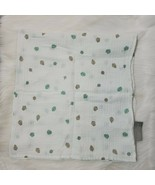 The Little Linen Co Australia Leaves Polka Dots Muslin Swaddle Baby Blan... - $11.99