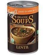 Amy's Organic Light In Sodium Lentil Soups 14.5 oz ( Pack of 6 ) - $28.04