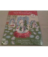 "Amscan Christmas ""SNOWMAN"" Party Table Decorating Kit 23 pieces - NIP - $3.95"
