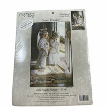 Little Angel Picture Candamar Printed Design Counted Cross Stitch Embroi... - $24.74