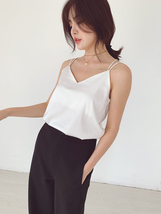 Ladies V-Neck Sleeveless Chiffon Tank Top Summer Chiffon Sleeveless Top US0-US12 image 8