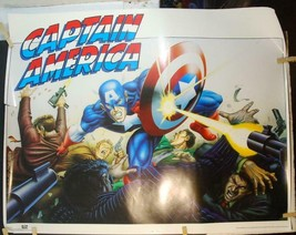 1989 Captain America Marvel OSP Poster #28-634 Zeck & Zimelman 22x28 - $74.25