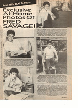 Fred Savage teen magazine pinup clipping exclusive at home with Fred Savage