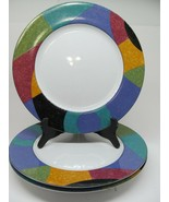 Mikasa  CURRENTS M5101 Dinner Plates   Set of  3  Light chips - $38.75