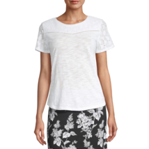 Liz Claiborne Round Neck Short Sleeve T-Shirt Size PXL New White - $9.99