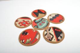 kilim coasters,Coaster 4,5'',handmade coaster,wool coasters,homedecor co... - $29.00