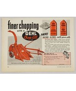 1956 Print Ad Gehl Chop-All Farm Attachment Made in West Bend,Wisconsin - $9.25