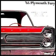 1966 Plymouth Fury Deluxe Color Brochure Original 66 - $14.69