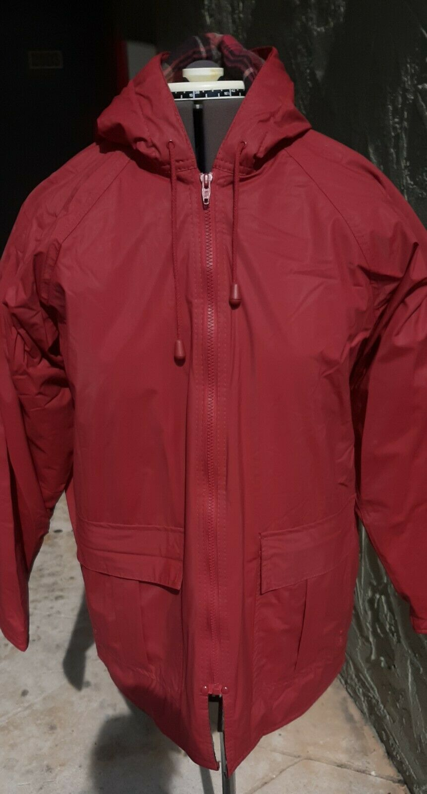Primary image for Women's Misty Harbor Red Quilt Lined Rain Coat Size Small