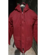 Women's Misty Harbor Red Quilt Lined Rain Coat Size Small - $39.99