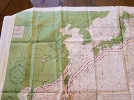 """Rare Vintage 36""""x26"""" Two Sided Western Pacific Cloth Nautical Map Asia China image 2"""