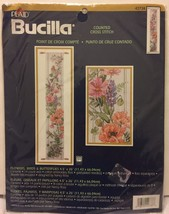 """Bucilla 4.5"""" x 26"""" Flowers Birds & Butterflies Counted Cross Stitch Plaid 42738 - $28.40"""