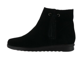 Vaneli Suede Ankle Boots Tassel Dommie Black 7.5W NEW A295244 - €157,03 EUR