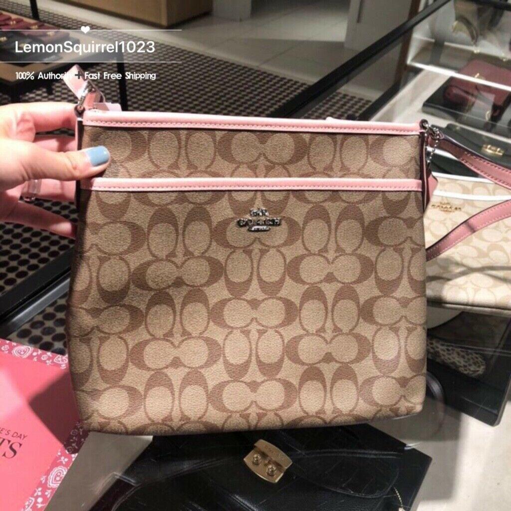 NWT Coach F29210 Signature File Crossbody Handbag Authentic